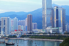 Skylines of urban area Stock Photo