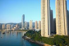 Skylines of urban area. At daytime Stock Photos