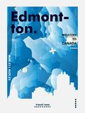 Skylinestadtsteigungs-Vektorplakat Kanadas Edmonton Lizenzfreie Stockfotos