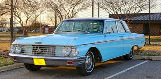 Skyling Blue 1960's Model Classic Ford Galaxy 500 XL Royalty Free Stock Image