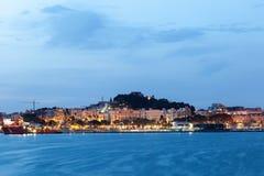 Skyling Cartagena przy nocą Zdjęcia Stock
