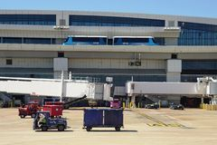 The Skylink monorail at the Dallas Fort Worth airport (DFW) Royalty Free Stock Photos
