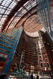 Skylit Atrium. This is a Fall picture of the skylit atrium of the iconic James R. Thompson Center located in Chicago, Illinois. The building with an all glass stock photo
