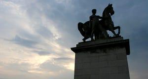 Skylit staty Royaltyfria Foton