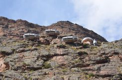 Skylodge Adventure Suites Near Ollantaytambo Royalty Free Stock Photo