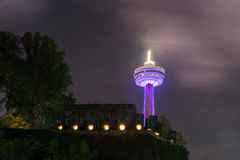 Skylon torn - Niagara Falls, Kanada Fotografering för Bildbyråer
