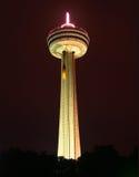 The Skylon Tower of Niagara Falls. Niagara's 160m tall Skylon Tower illuminated at night Royalty Free Stock Images