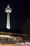 Skylon tower, Niagra Falls, Canada, at night Stock Photography