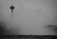 Skylon wierza mgła Obrazy Royalty Free