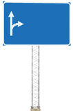 Skylt för panel för tecken för information om riktning för körning för Motorwayvägföreningspunkt, stor isolerad tom tom Signage f Royaltyfria Bilder