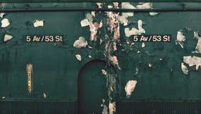 skylt för 5th ave och för 53 gata i New York Arkivfoton