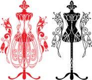 Skyltdocka för skräddarear med klänningen Royaltyfri Foto
