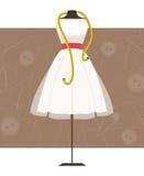 skyltdocka med klänningen också vektor för coreldrawillustration Arkivfoton