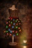 Skyltdocka som kläs för jul Royaltyfri Fotografi