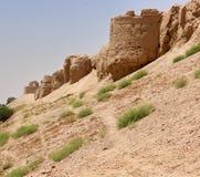 skymfen Fästning i staden av Balkh Arkivfoto