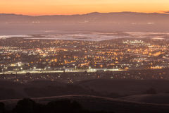 Skymning över Silicon Valley Royaltyfri Bild