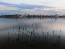 Skymning Dnipropetrovsk Royaltyfri Foto