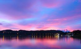 Skymning efter solnedgång Fotografering för Bildbyråer
