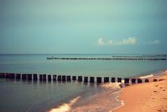 Skymning för baltiskt hav royaltyfri foto