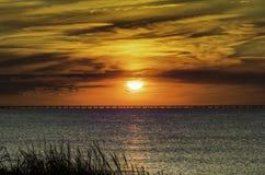 Skymning för Chesapeakefjärd Royaltyfri Fotografi