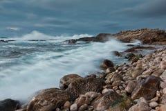 skymning för kustguinchosintra Arkivbilder