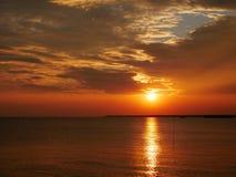 Skymning för solnedgång Royaltyfria Bilder