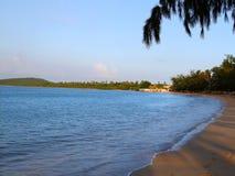 skymning för strandhav sju Arkivbilder