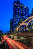 skymning i bangkok Thailand Royaltyfri Foto
