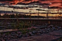 Skymning i Finland royaltyfri foto