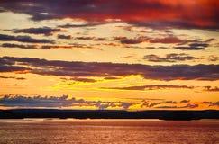 Skymning i Finland Royaltyfri Bild