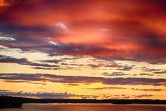 Skymning i Finland Royaltyfria Bilder