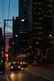 Skymning i i stadens centrum Toronto Fotografering för Bildbyråer