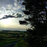 Skymning i Yorkshire Royaltyfri Foto