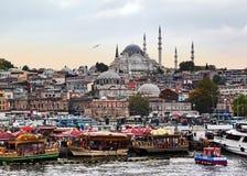 skymning istanbul Arkivbilder