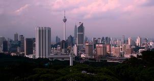 skymning Kuala Lumpur Arkivbild