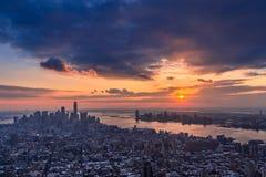 skymning New York Royaltyfri Bild
