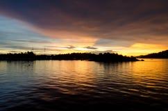 Skymning och solnedgång Royaltyfri Foto