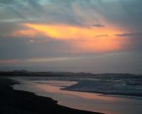 Skymning på Byron Bay Arkivbild