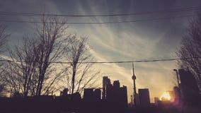 Skymning på staden Royaltyfri Fotografi