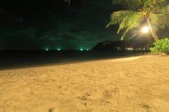 Skymning på stranden, Koh Kood, Thailand Fotografering för Bildbyråer