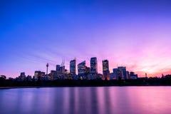 Skymning på Sydney Royaltyfri Fotografi