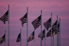 skymningflaggor arkivbild