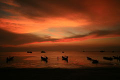 Skymninghimmel i solnedgång Royaltyfri Fotografi