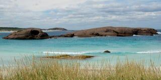 Skymningstrand, Esperance, västra Australien Arkivfoton