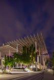 Skymningyttersida av Perez Museum Midtown Miami Royaltyfria Bilder