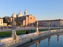 Skymt av abbotskloster av Santa Giustina i Padua Arkivbild