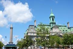 Skymt av gammala Montreal, Kanada Arkivfoton