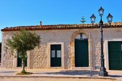 skymt av historisk byggnad i donnalucata royaltyfri bild