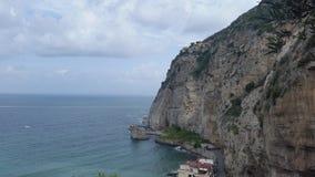 skymt av landskapet i staden av Metadi Sorrento arkivfoto