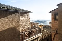 Skymt av landskapet av Tuscany royaltyfri fotografi